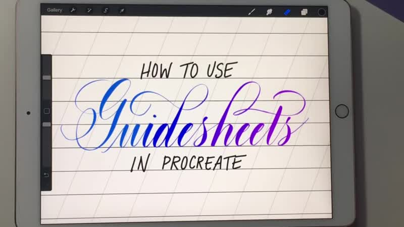 3 Ways to use Guidesheets in Procreate -- iPad Procreate Lettering