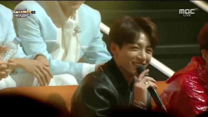 BTS JUNGKOOK Interview MCs MBC Gayo Daejejeon 2018