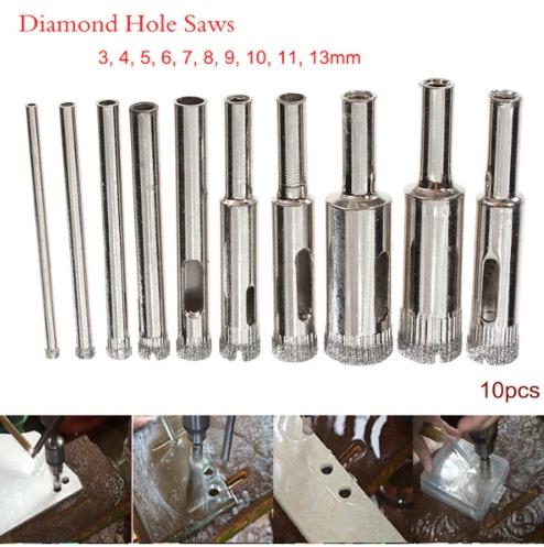 Алмазные коронки 10 шт