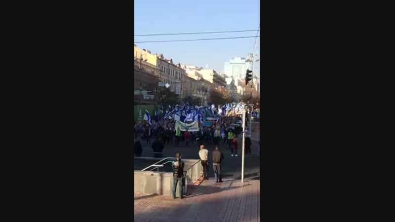 Сотні мітингуючих перекрили центр 17,10,18