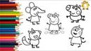 СБОРНИК Раскраска для детей ГЕРОИ МУЛЬТИКА свинка Пеппа