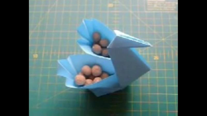 Как Сделать из Бумаги Поделки Своими Руками_ Лебедь Коробочка Оригами. Origami S
