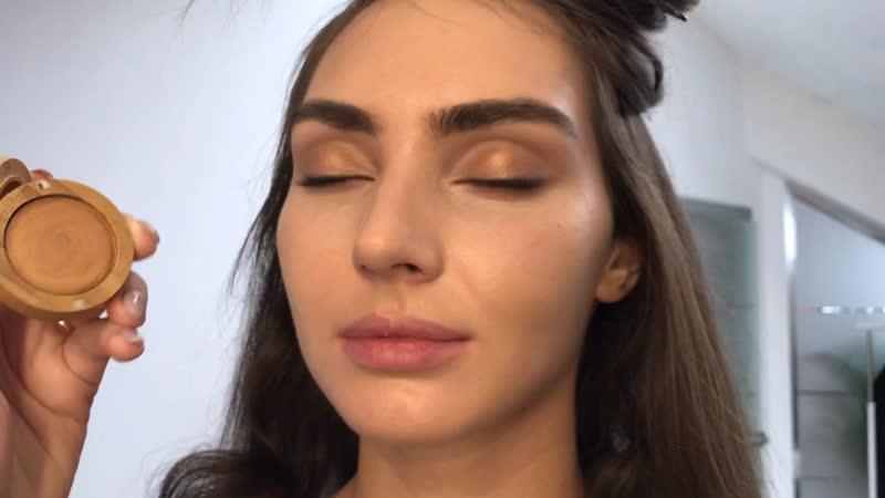 Макияж глаз на натуральной косметике Zao