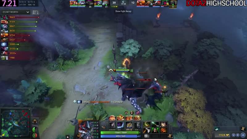 Miracle- [Slardar] Becomes Right Click Hero Game is Hard 7.21 Dota 2