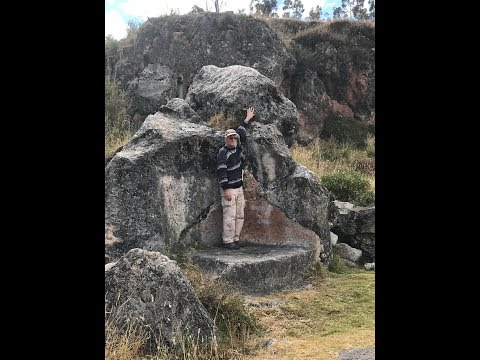 Ancient Inca Circular Temple And Megaliths Above Cusco Peru June 2019