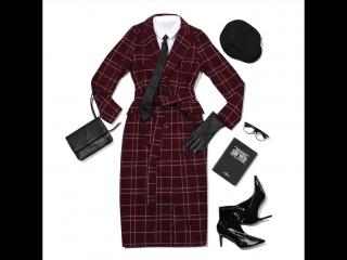 Деловая блузка и актуальное макси-пальто в клетку - когда стиль и уют идеально гармонируют друг с другом ❤️