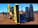 The Engineering Marvels Tracked Fencing Machine Technologies #HD720p