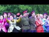 Попурри на тему казачьих песен исполняет сводный хор казаков