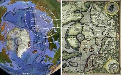 Сопоставление древних карт современному рельефу.