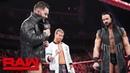 Finn Bálor interrupts Drew McIntyre Dolph Ziggler: Raw, Nov. 12, 2018