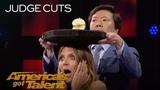 Aaron Crow Dangerously Shoots Apple Off Heidi Klum's Head - America's Got Talent 2018