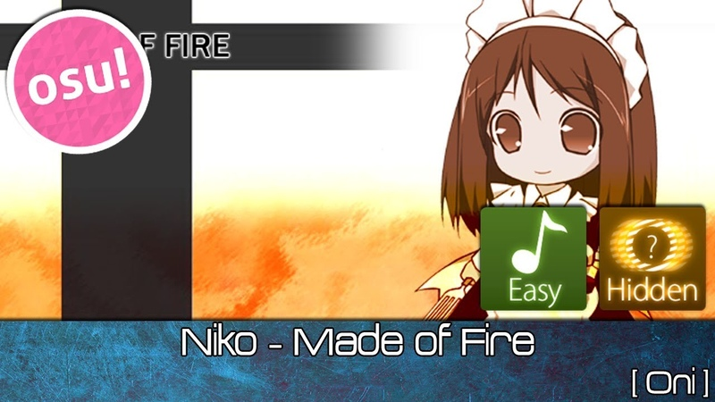 Osu! - Niko - Made of Fire [Oni] Easy Hidden - Played by Doomsday