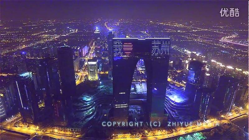夜色园区 SIP Night 航拍苏州工业园区 指月映画原创 超清