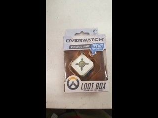 Loot box keychain found at Target! Plays 2 jingles in 3 colors.
