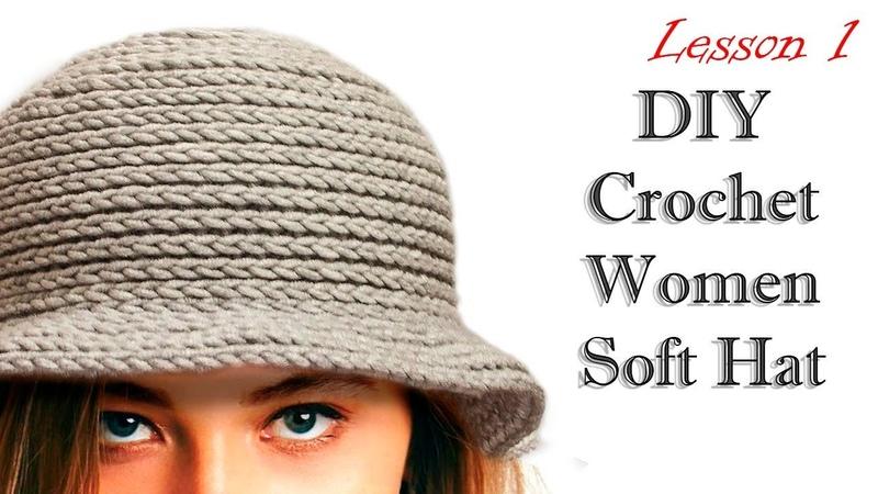 ШЛЯПА КРЮЧКОМ МК DIY Crochet Women Soft Hat