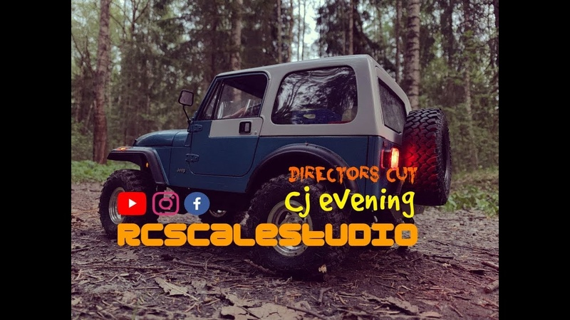 RcScalestudio 1/10 rc Jeep Cj scale run in evening forest Director`s cut