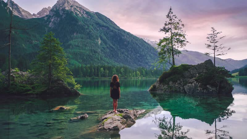 Баварское озеро Германия / Bavarian Lake Germany