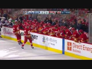 NHL - So it seems Elias Lindholm has worked out nicely for the Calgary Flames. Hes snagging the game winner.