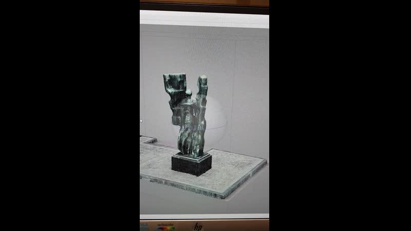 3-D модель памятника дружбы народов. Плевен.