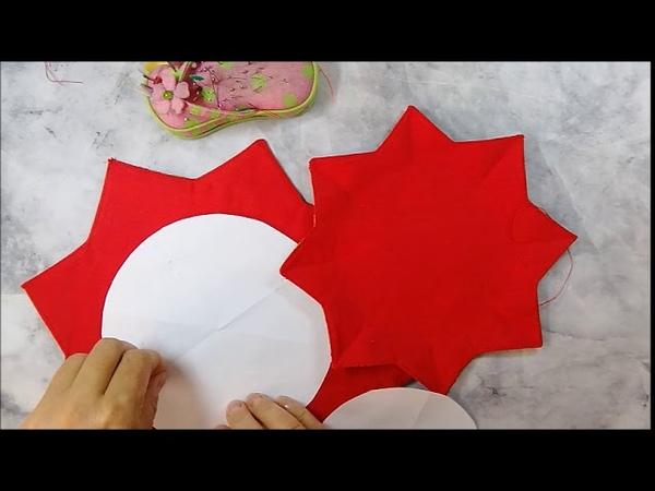 шитье текстильных вазочек 2