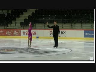 Елизавета Худайбердиева Никита Назаров Tallinn Trophy 2018 Junior Ice Dance - Rhythm Dance