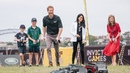 Prince Harry and Meghan Markle at the JLR Drive Day at Cockatoo Island
