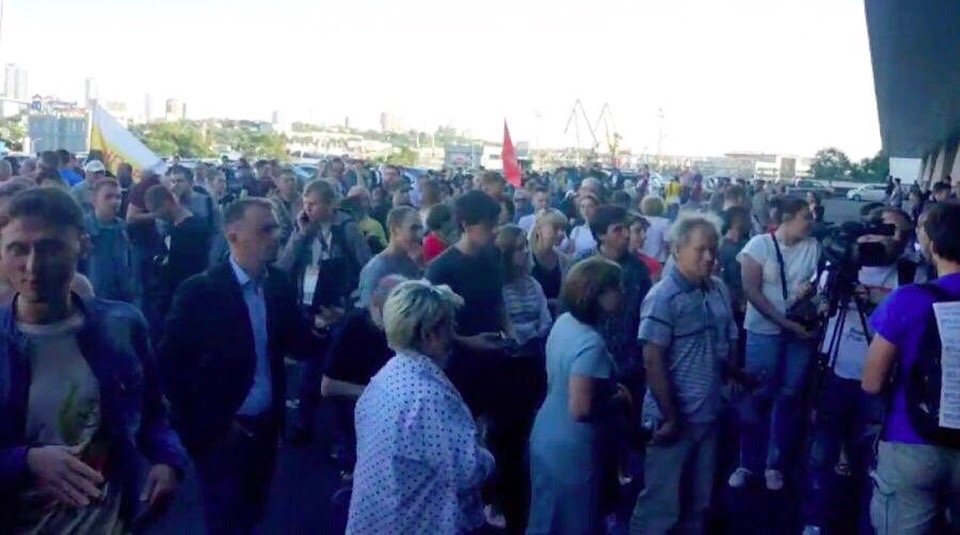 Владивосток: протест против результатов выборов в Приморье 2018 (Прямой эфир)