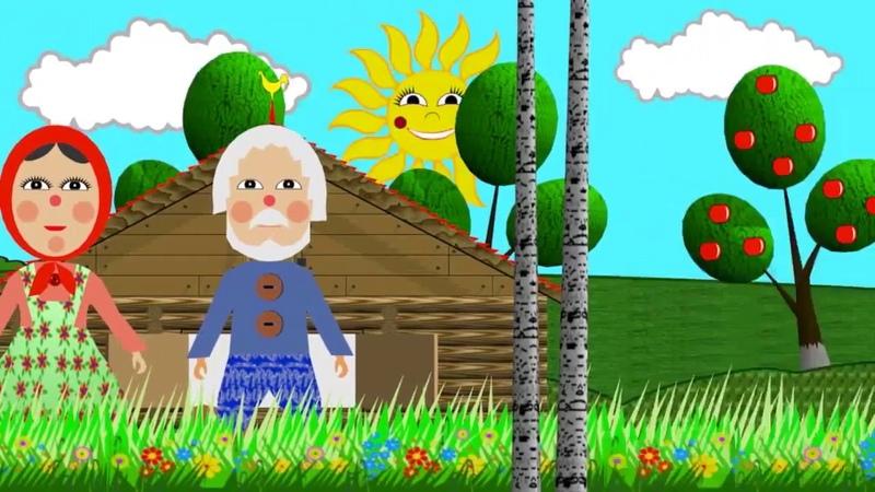 Колобок мультфильм 2д формате история про деда бабы зайца волка медведьи хитрая лиса