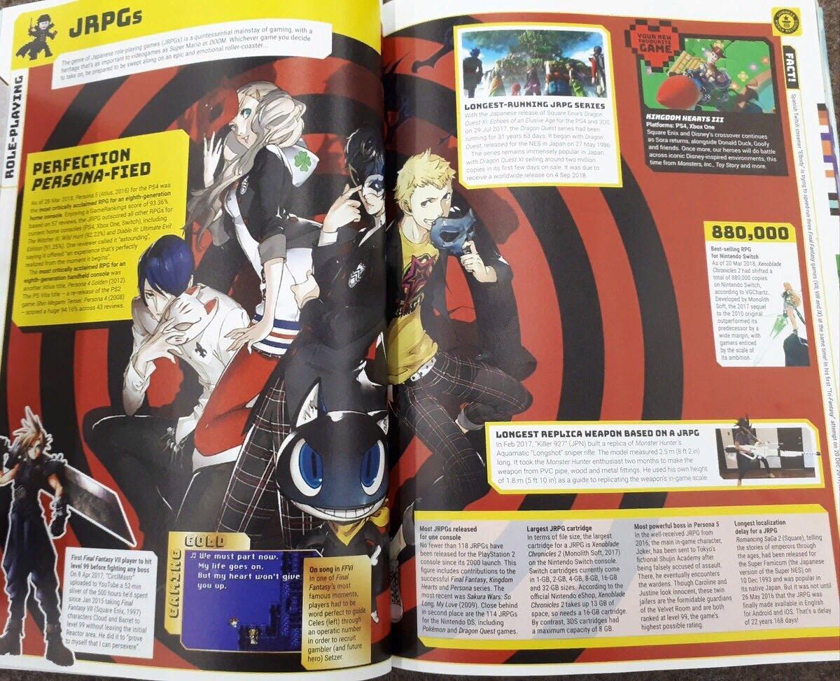 В Книгу рекордов Гиннеса попала Persona 5. Игра считается с