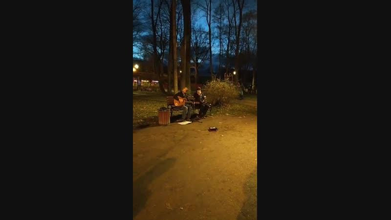 Уличный концерт группы Акустика . Выборг . ( 2 )