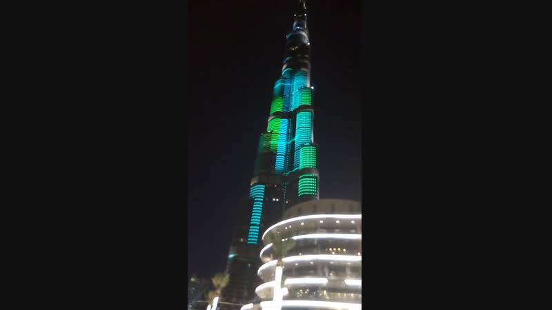 Бурдж-Халифа — небоскрёб высотой 828 метров в Дубае, самое высокое сооружение в мире
