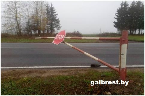 Барановичский район: в ДТП травмирован дежурный по ж/д переезду