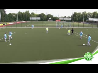 Tiqui taca - one touch soccer _ 6 player drill with switching sides