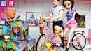 КАТЯ И МАКС ВЕСЕЛАЯ СЕМЕЙКА НА ПИКНИК НА КИНДЕРСИПЕДЕ Мультики с куклами Барби куклы