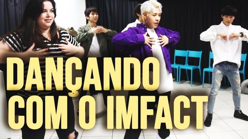 PASSEI VERGONHA DO LADO DO MEU BIAS Feat IMFACT Dançando 'NANANA' 나나나