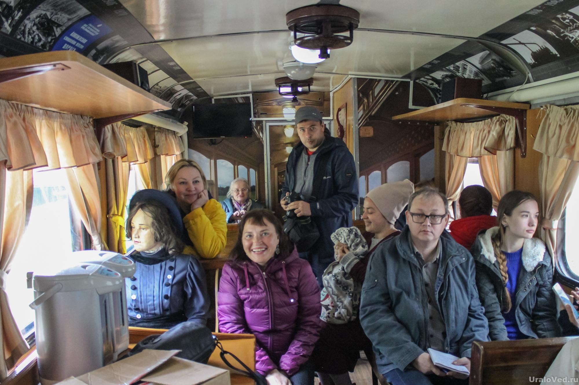 В вагоне Алапаевской узкоколейки