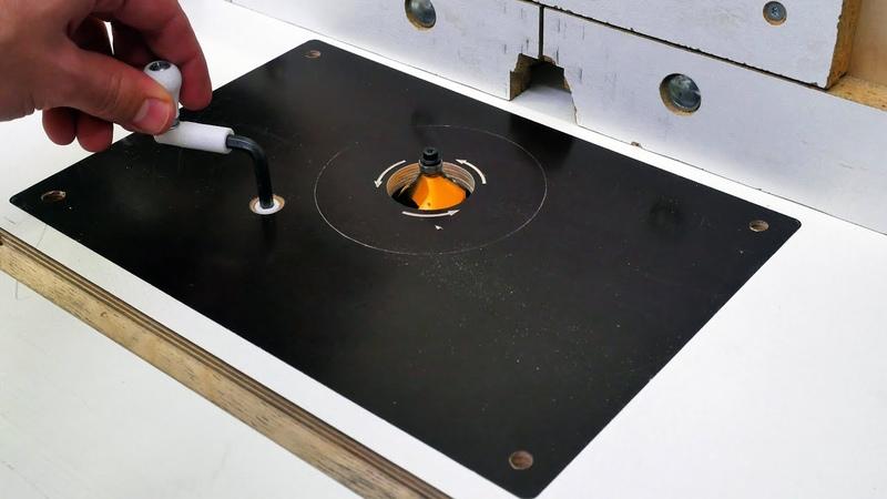 Homemade Router Table Insert Plate