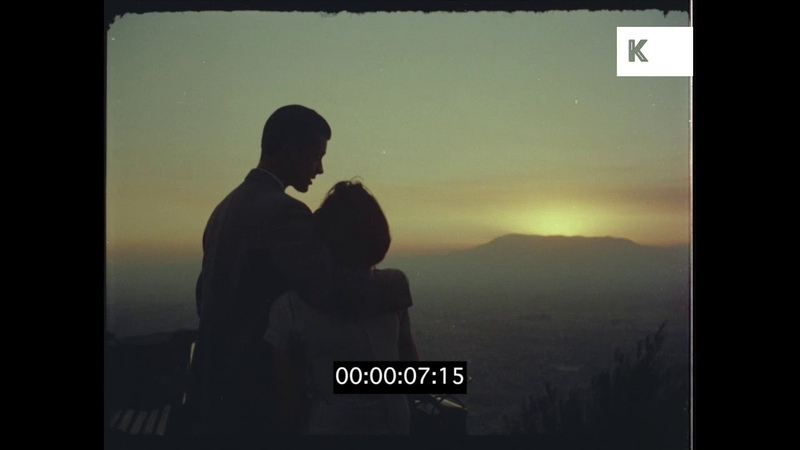 1960s Romantic Couple At Sunset, HD from 35mm