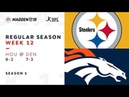 Week 12. Pittsburgh Steelers @ Denver Broncos | Madden NFL 19