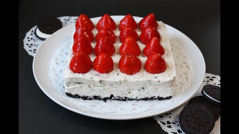 No bake Strawberry Oreo Cheesecake ノーベイク オレオチーズケーキ ストロベリー
