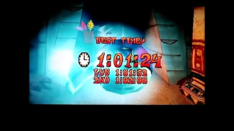 Crash Bandicoot 3: Warped (PAL).Time Trial.Bug Lite.1:01:24. PB.Полная версия.
