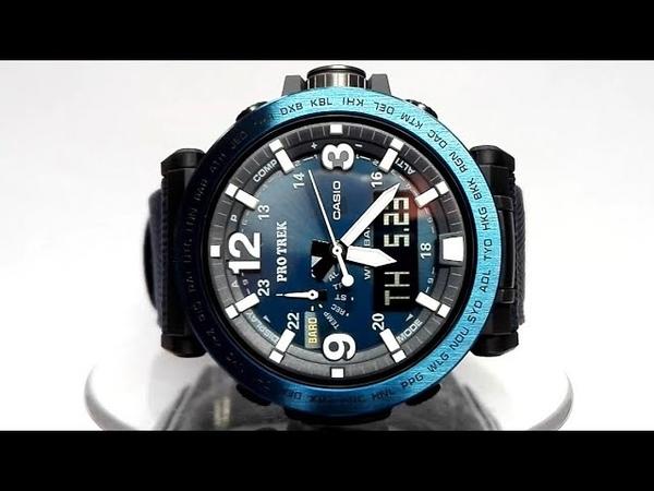 Casio Pro Trek PRG-600YB-2 Solar powered triple sensor watch 2019