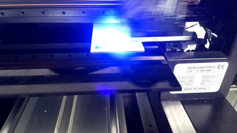 UV printer acrylic sample scenery design sample video ==shenzhen in tech