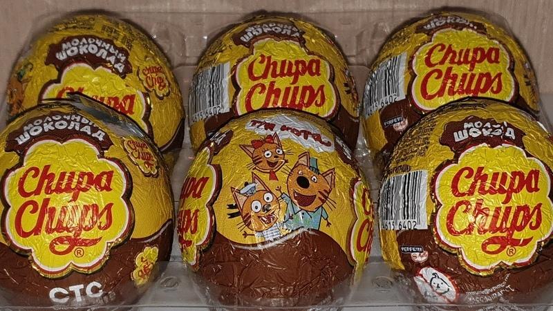 Три Кота шоколадные шары Чупа Чупс Обзор коллекции KINDER TOYS CLUB