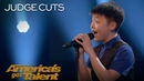 Jeffrey Li: 13-Year-Old Sings Whitney Houston's One Moment In Time - America's Got Talent 2018