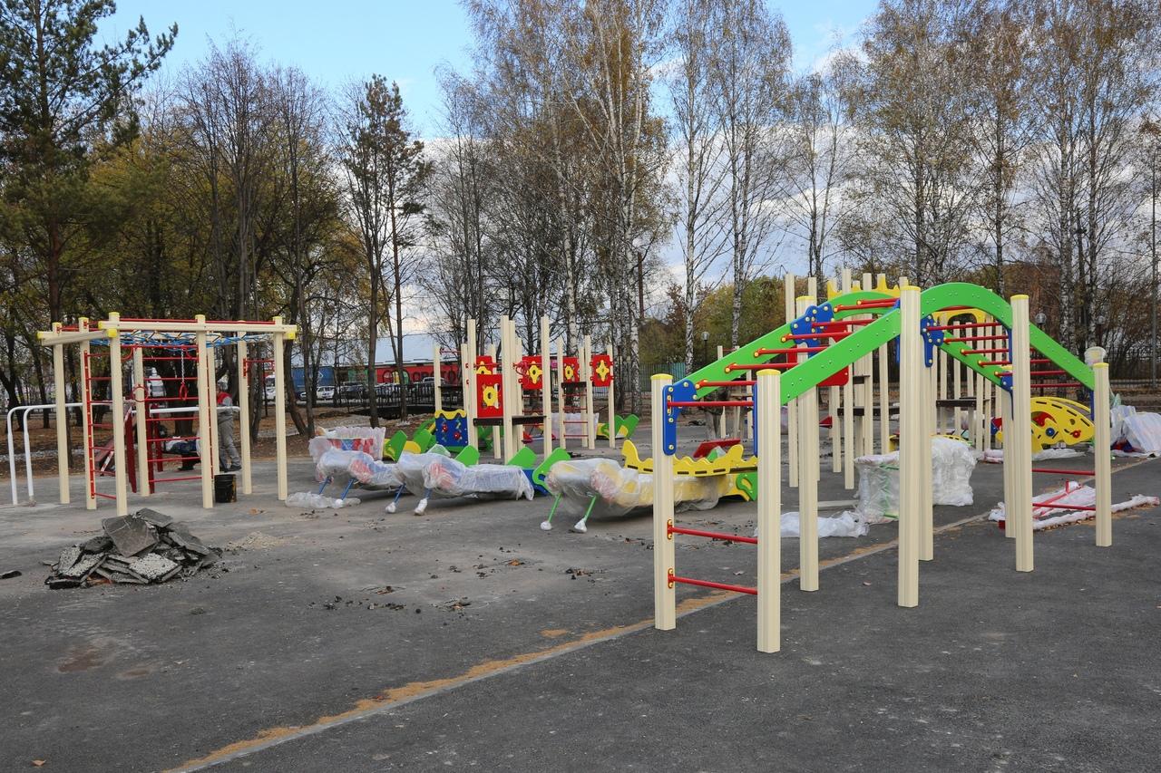 Реконструкция Центрального парка в Белово