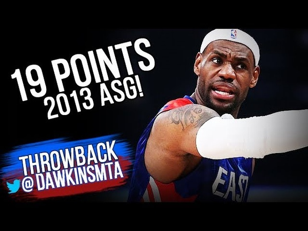 LeBron James Full Highlights at 2013 All-Star Game - 19 Pts, 5 Assists! FreeDawkins