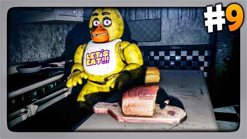 ПОПАЛ НА КУХНЮ НОВЫЙ АНИМАТРОНИК ✅ Creepy Nights at Freddys Прохождение 9