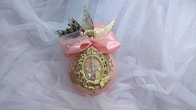 Интерьерный,аристократичный, глянцевый шар-красавчик 10 см,из пластика, ручной работы 💝. 💥 Цена 1000р 💥