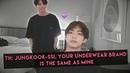 Taekook tmi: workout pals, same brand of underwear, sharing rooms?